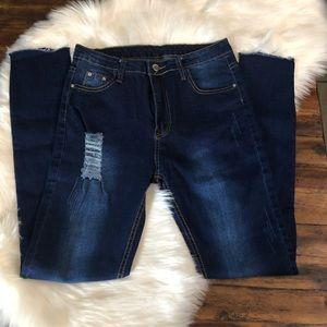 Jeans - 🔥BLOWOUT SALE💥Raw Hem Rip Stretch Skinny Jeans